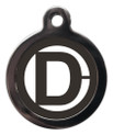 Dog ID Tags with the letter D on it