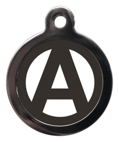 Dog ID Tags with the letter A on it