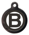 Dog ID Tags with the letter B on it
