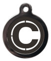 Dog ID Tags with the letter C on it