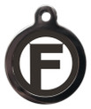 Dog ID Tags with the letter F on it