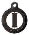 Dog ID Tags with the initial I on it