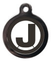 Dog ID Tags with the initial J on it
