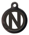Dog ID Tags with the initial N on it