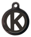 Dog ID Tags with the initial K on it