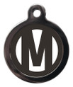 Letter M Dog ID Tags