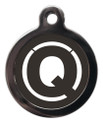 Letter Q Dog ID Tags