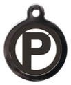 Letter P Dog ID Tags
