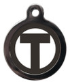 Initial T Dog ID Tags
