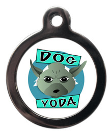 Dog Yoda Pet ID Tags