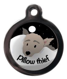 Pillow Thief Dog ID Tag