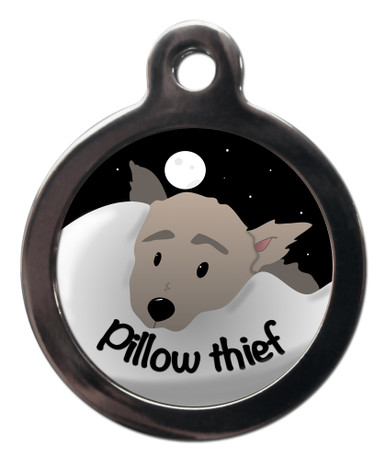 Pillow Thief Dog ID Tag