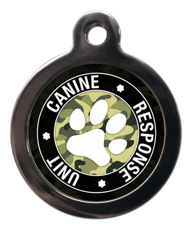 K9 Response Unit Male Pet Tag