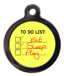 Dog To Do List Pet ID Tag