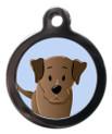 Chocolate Labrador Breed Pet Tags