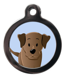 Chocolate Labrador Breed Pet Tags