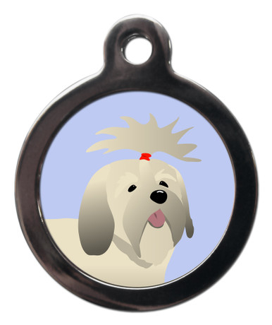 Lhasa Apso Breed Dog Tag