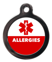 Allergies Medical Alert Pet Dog ID Tag
