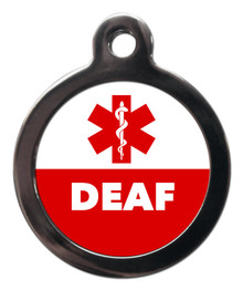 Deaf Medical Alert Pet Dog ID Tag