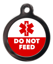 Do Not Feed Medical Alert Pet Dog ID Tag