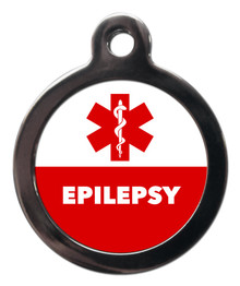Epilepsy Medical Alert Pet Dog ID Tag
