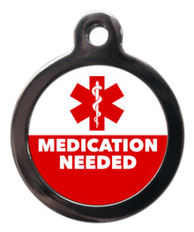 Medication Needed Medical Alert Pet Dog ID Tag