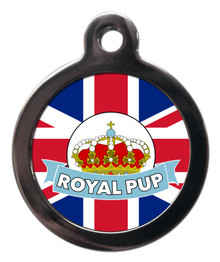 Royal Pup Blue Pet ID Tag - Royal Wedding Theme Pet Tags