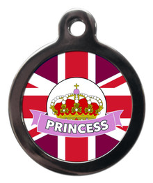 Princess Pet ID Tag - Royal Wedding Theme Pet Tags