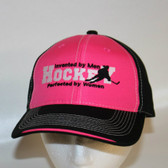 Hockey Invented by Men Perfected by Women- Pink/Black Deluxe Hat