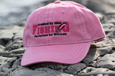 Fishing Perfected by Women Hat-pink with white trim hat