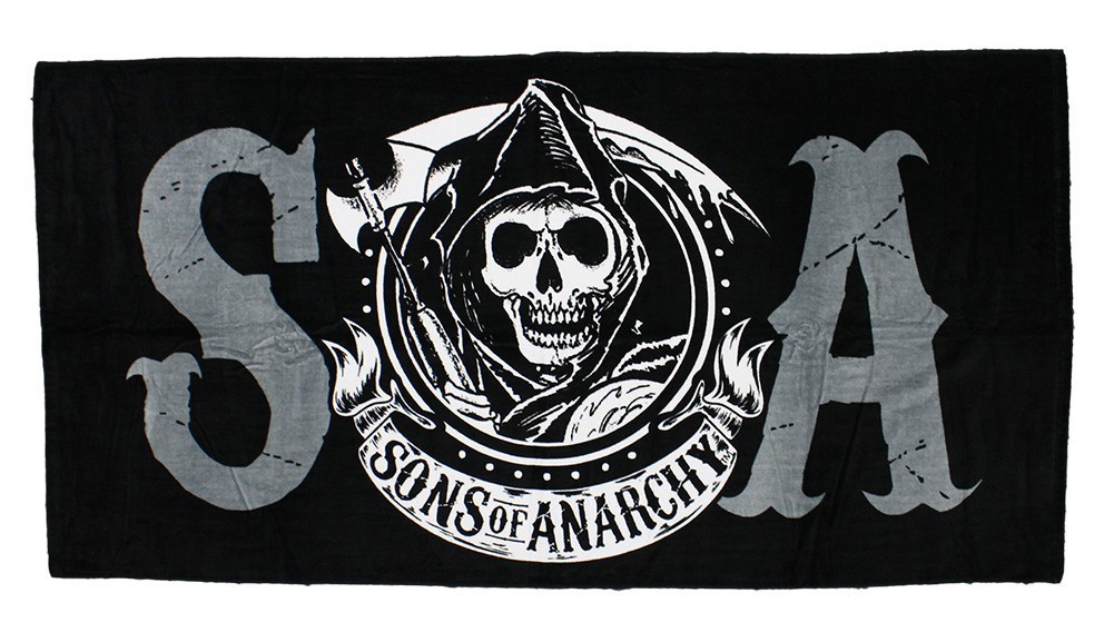Sons of Anarchy SOA Beach Towel - Hollywood Filane a2aaad1fc429