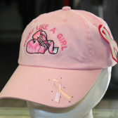 Fight Like a Girl Breast cancer awareness hat