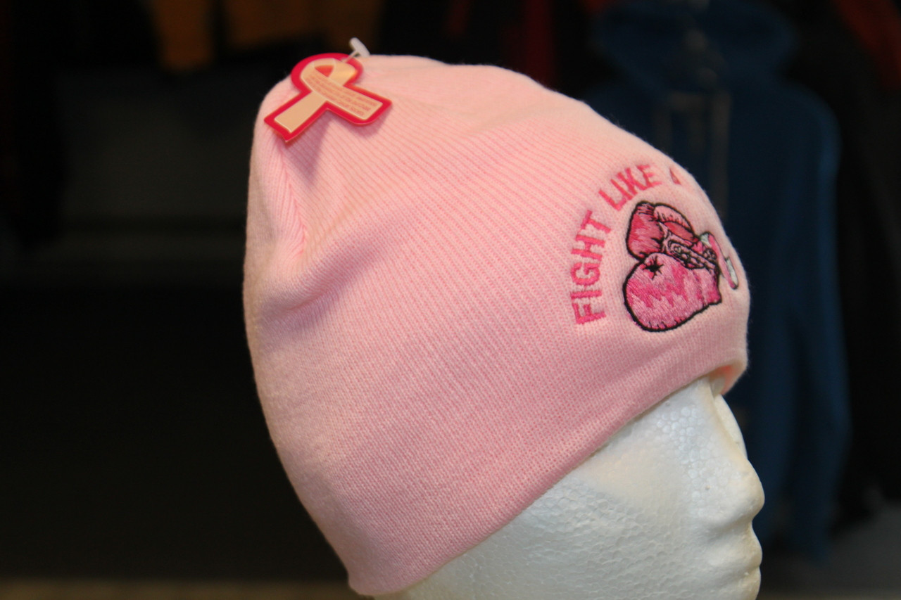 Fight Like a Girl Breast cancer awareness beanie - Hollywood Filane 6146b7f55ce8