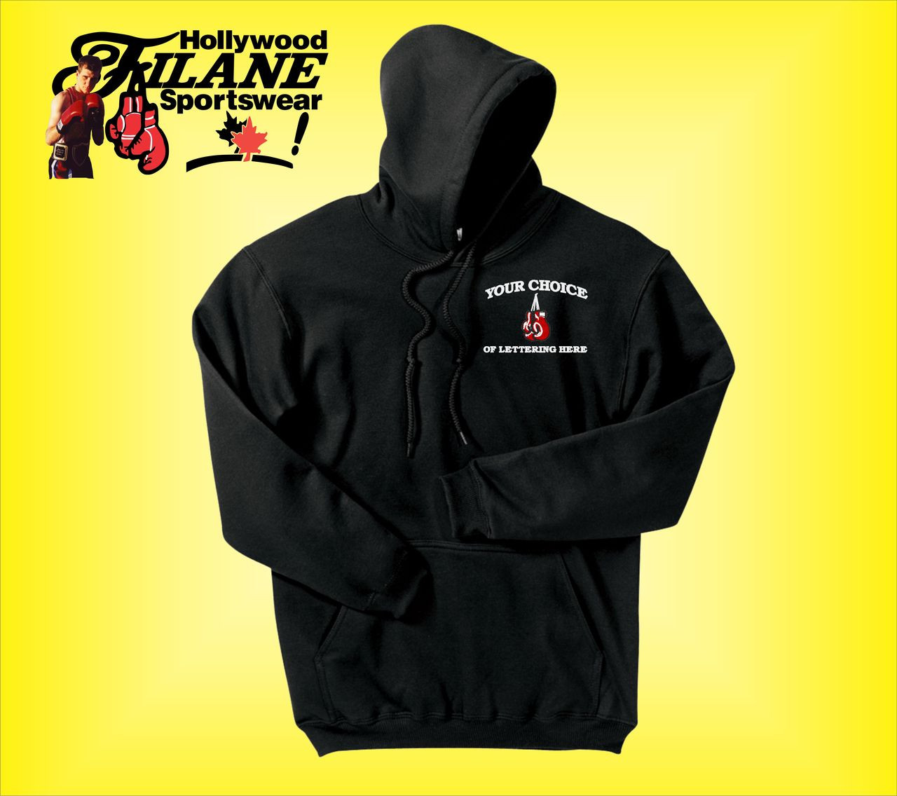 712d8d0d4d8 Personalized Boxing custom logo Hooded Sweatshirt - Hollywood Filane