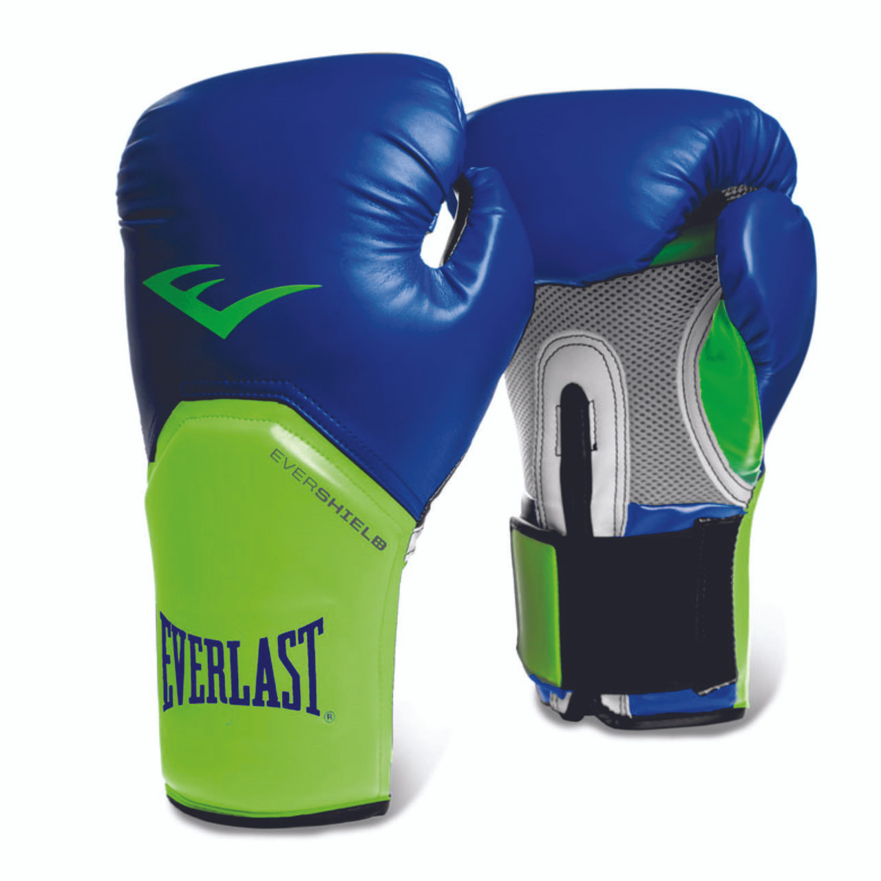 96d415f96 NEW! EVERLAST PRO STYLE ELITE TRAINING GLOVES 16oz blue lime green ...