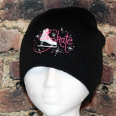 Figure Skating Skate Black Beanie Toque