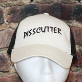 Pisscutter black and white Trucker style Mesh Hat
