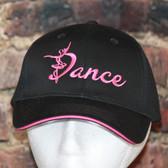 Black with Hot PINK trim Dance cap
