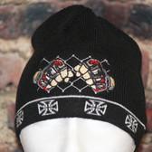 MMA Cage fighter Iron Cross Knit beanie skull board cap