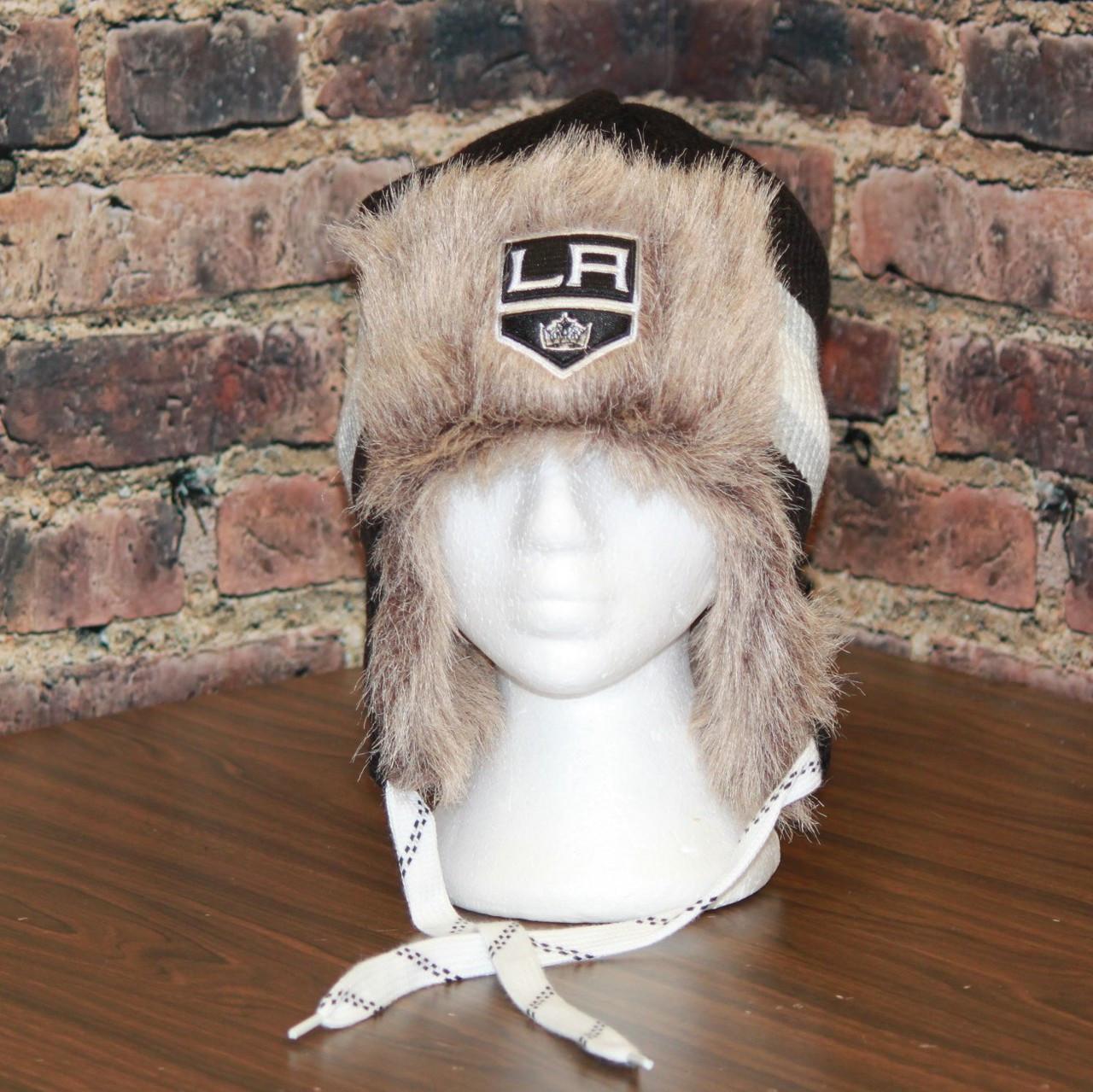 794046121de Los Angeles LA Kings Reebok NHL Center Ice FUR TROOPER Knit Hat. Price    39.95. Image 1