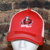Aguasabon River Rats Hockey Logo - Red with white mesh snap back cap