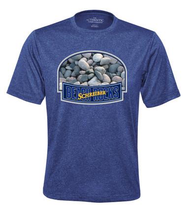 Schreiber Beach Rocks PRO TEAM HEATHER ProFORMANCE TEE - cobalt heather