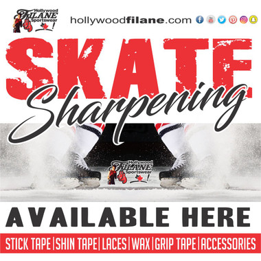 Need an edge this season? Get your skates sharpened at Hollywoodfilane.com and get the edge on the competition. #skatesharpening We also carry stick tape, shin pad tape, laces, hockey stick blade wax and accessories.