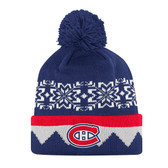 Montreal Canadiens adidas NHL Snowflake Cuffed Pom Knit Hat
