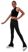 "2"" Solid Waist Pants w/cuffs    Lightly Sanded Poly Spandex Fabric: 87% Polyester, 13% Spandex     Waistband elastic width: 2"""