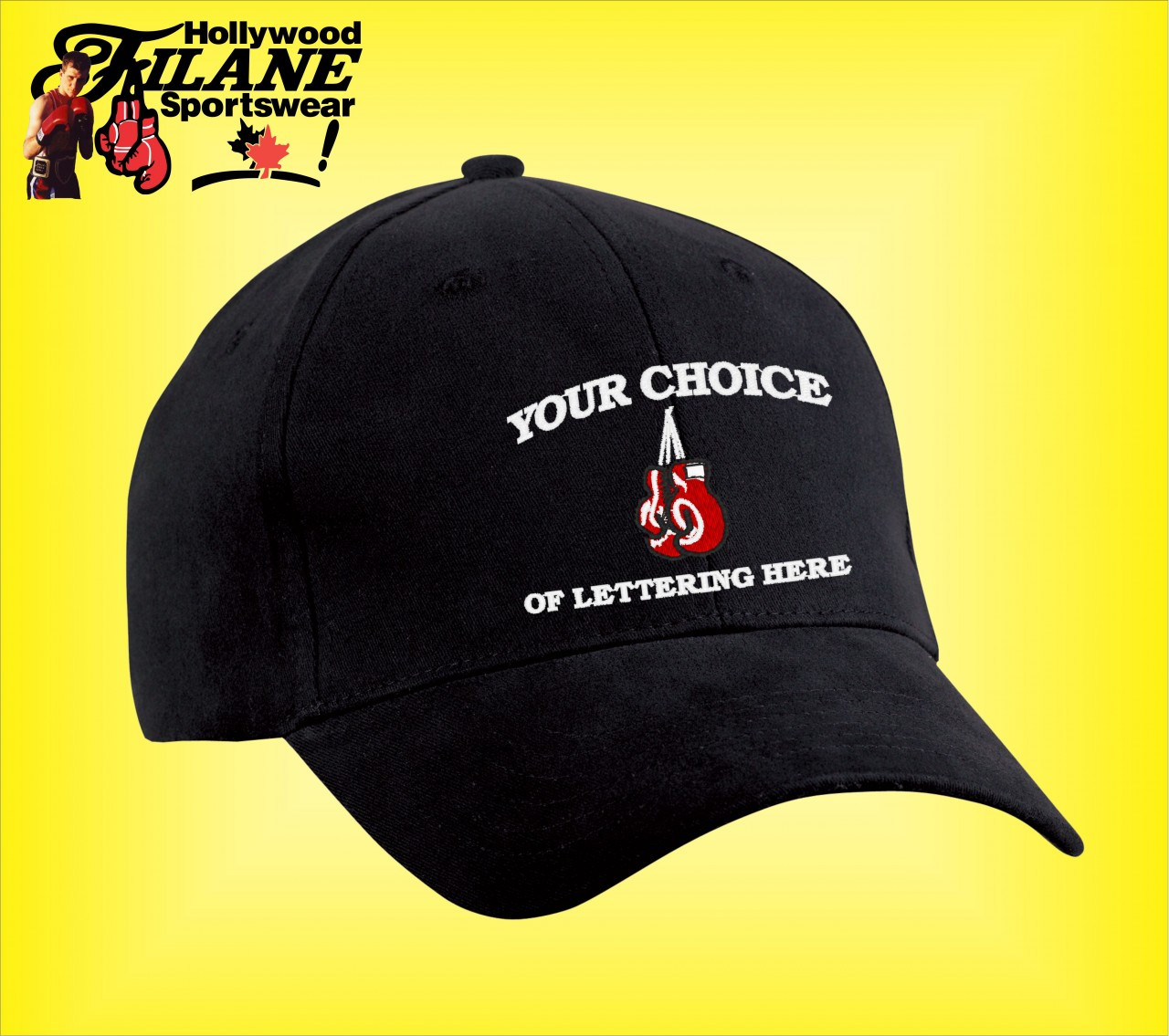 dfd4db508f2 Personalized Boxing logo Hat - Hollywood Filane