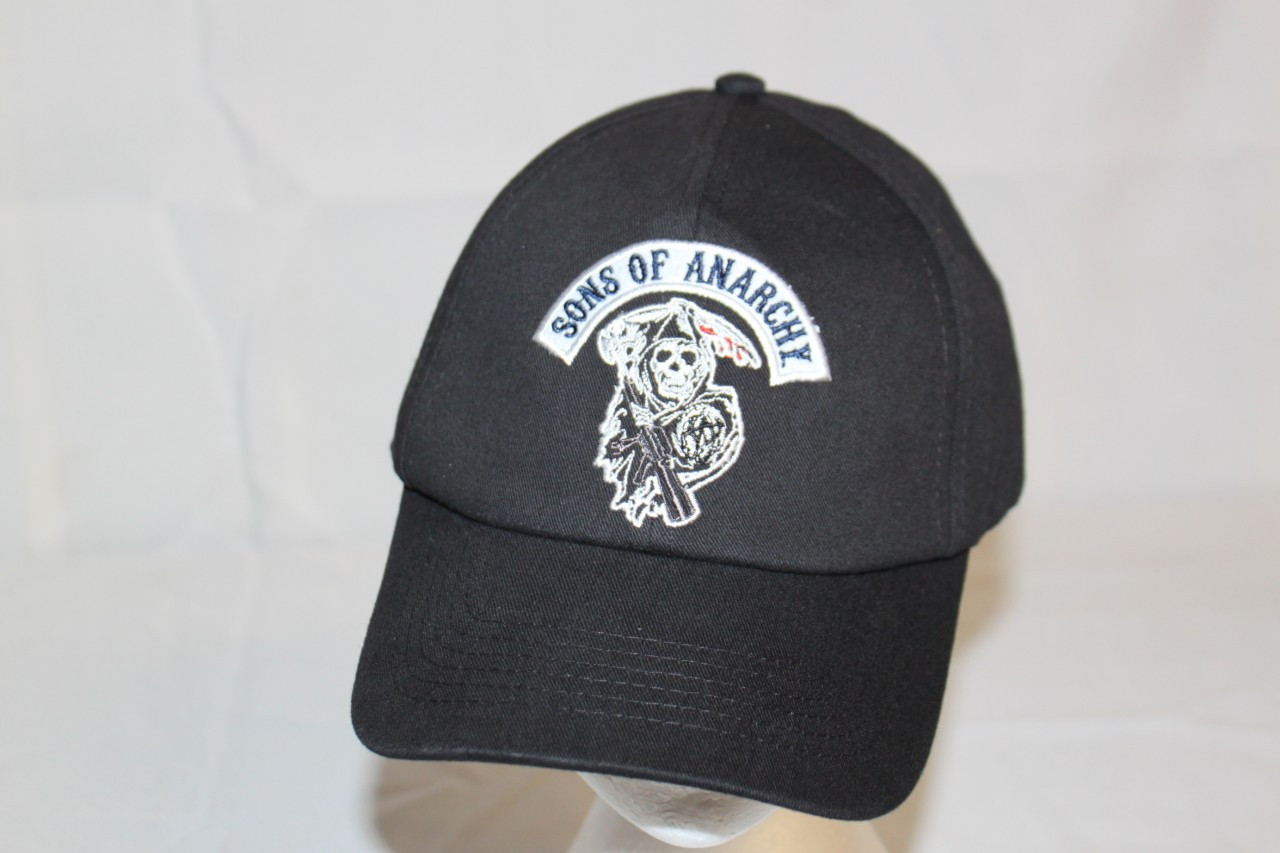 ea3ea0e9109 Sons of Anarchy Reaper Patch Hat - Hollywood Filane
