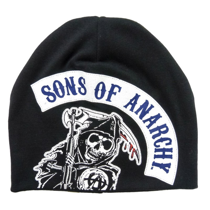 249d04d5d43 Sons of Anarchy Large Rocker Reaper Beanie - Hollywood Filane