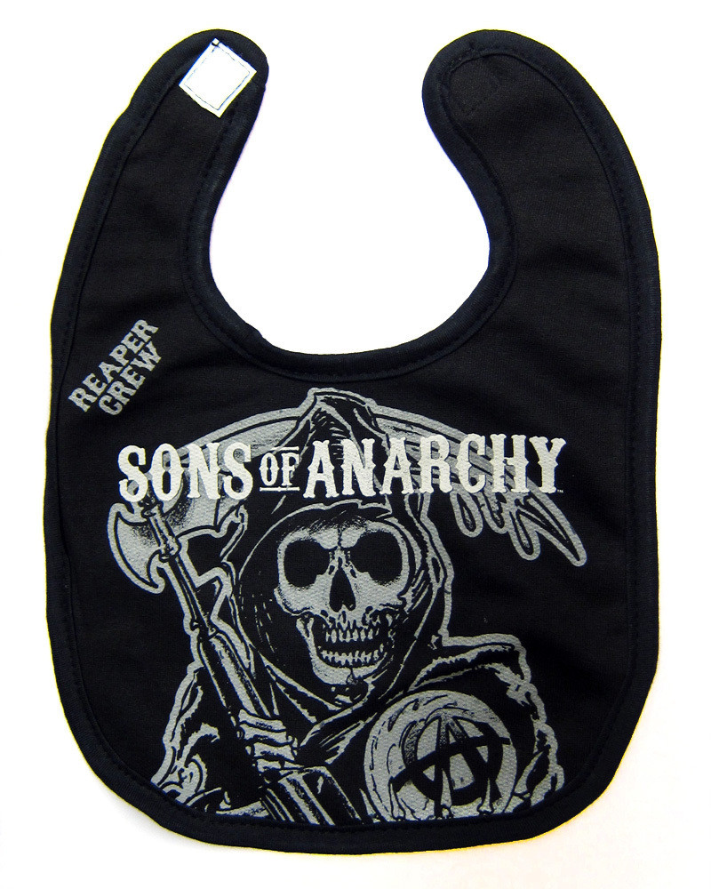 b53bd5ea33d Sons of anarchy baby toddler reaper Crew bib - Hollywood Filane