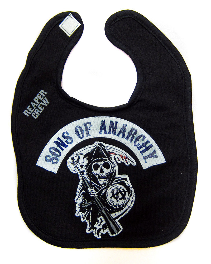 14c837afdd5 Sons of anarchy baby toddler primary logo bib - Hollywood Filane